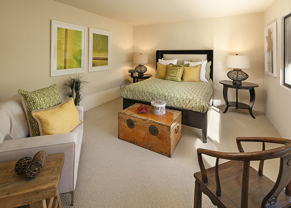 1154 Channel Drive guest bedroom, an oceanfront home in Montecito steps from the Four Seasons Santa Barbara Biltmore Hotel