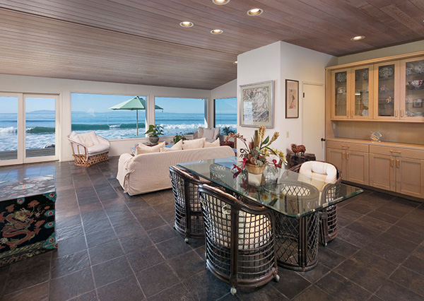 2940 Solimar Beach Drive dining room, a beachfront home along the Rincon