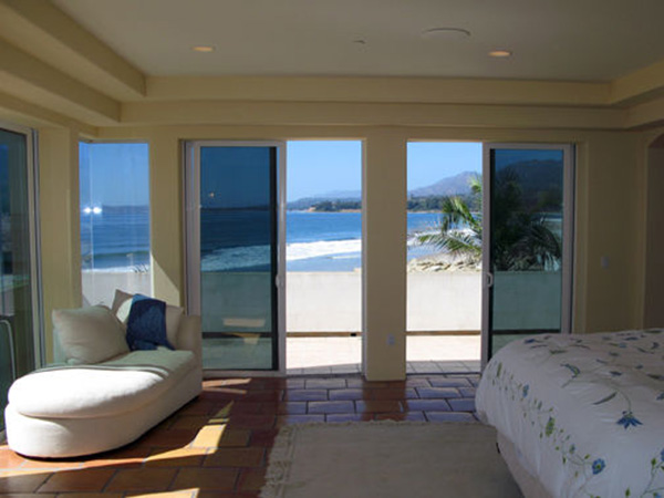 875 Sand Point Road bedroom, a beachfront home in Carpinteria