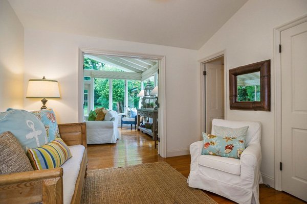 1130 Channel Drive den, a beach home on Butterfly Beach in Montecito
