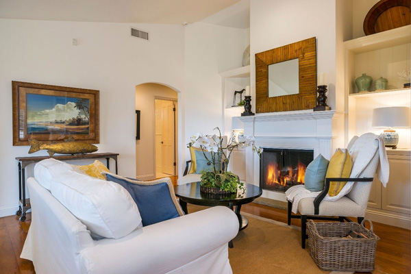 1130 Channel Drive family room 2, a beach home on Butterfly Beach in Montecito