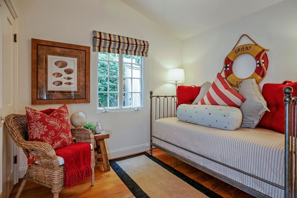 1130 Channel Drive guest bedroom, a beach home on Butterfly Beach in Montecito