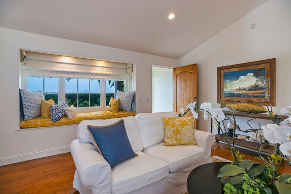 1130 Channel Drive living room, a beach home on Butterfly Beach in Montecito