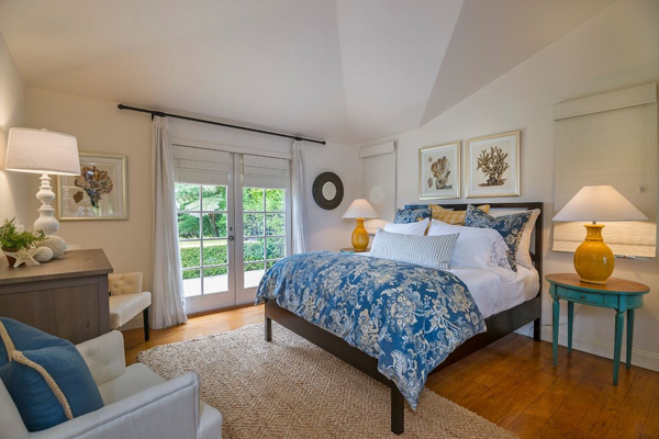 1130 Channel Drive master bedroom, a beach home on Butterfly Beach in Montecito
