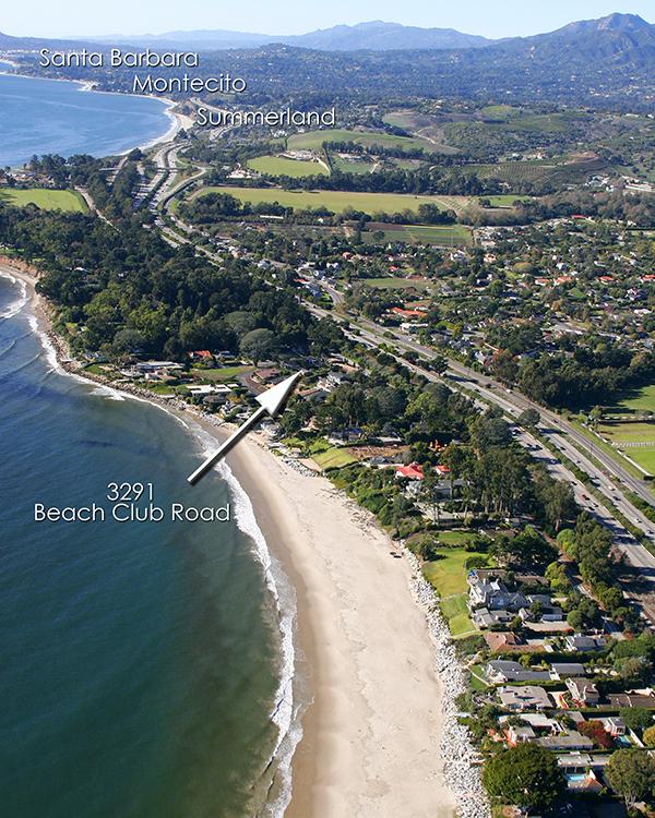 Aerial up coast