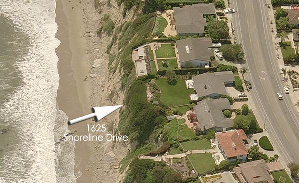1625 Shoreline Drive aerial 1